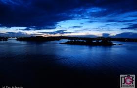 Karlskrona po zmierzchu