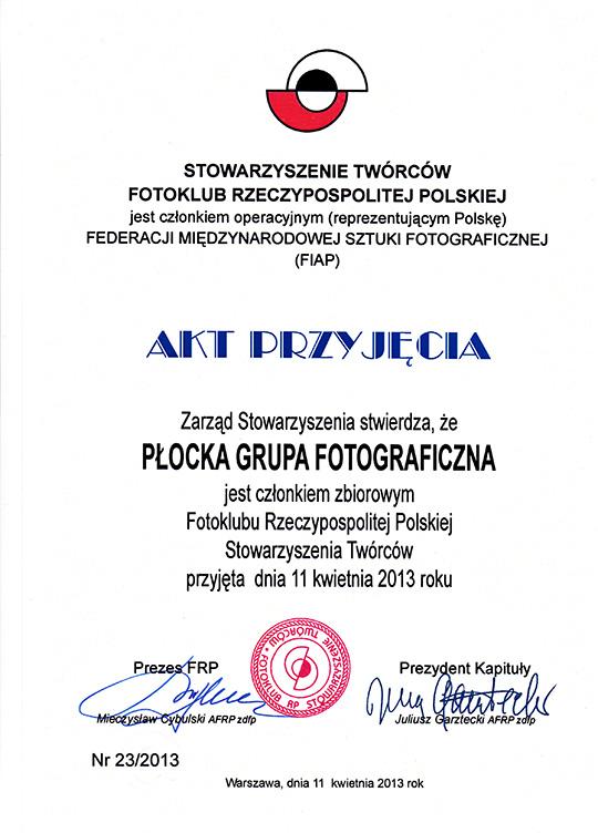 Stowarzyszenie Twórców Fotoklub Rzeczypospolitej Polskiej Płocka Grupa Fotograficzna
