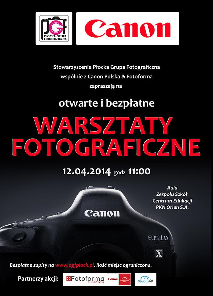 Warsztaty fotograficzne z firmą Canona